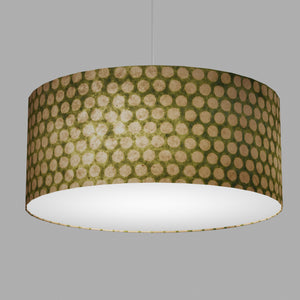 Drum Lamp Shade - P87 ~ Batik Dots on Green, 70cm(d) x 30cm(h)