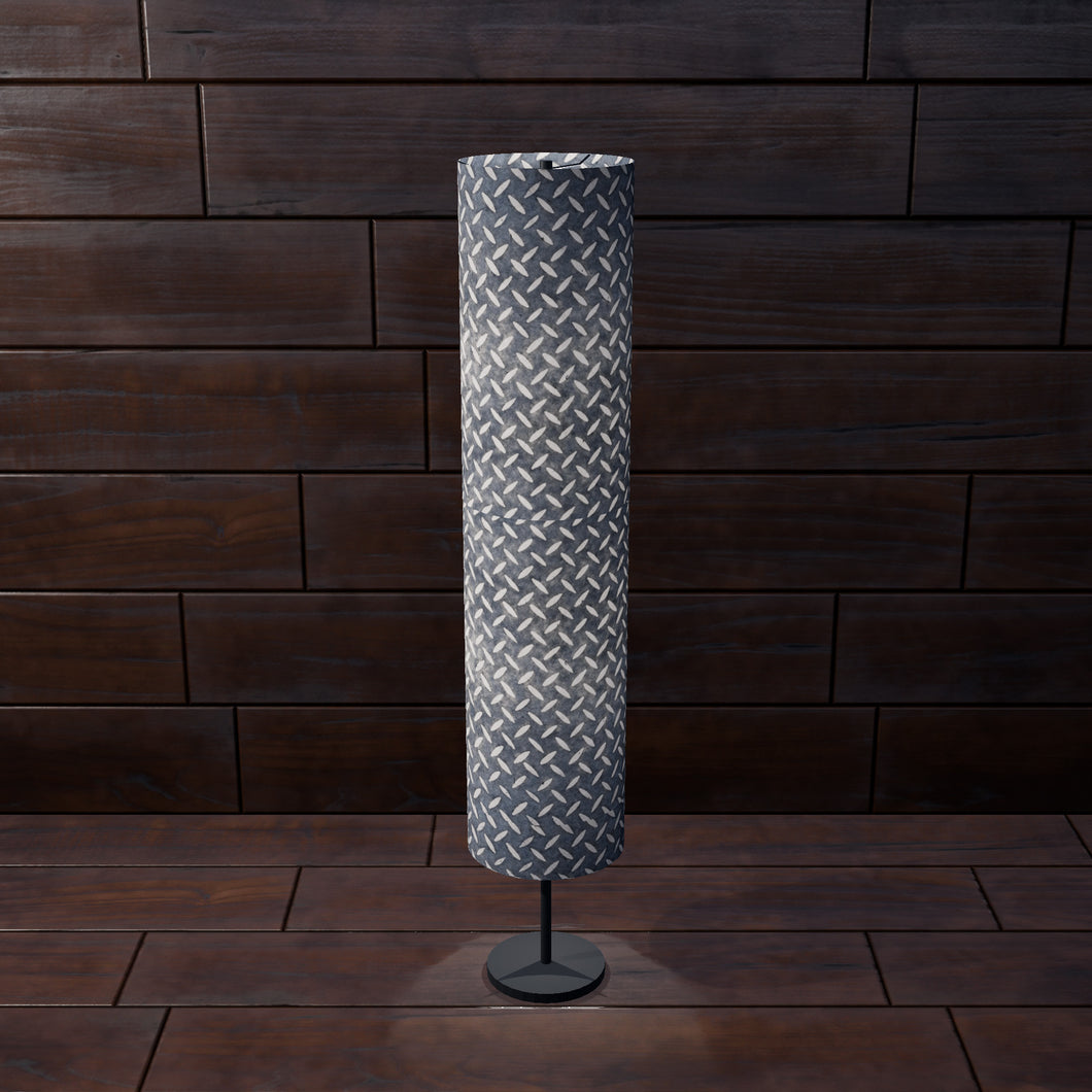 Drum Floor Lamp - P88 ~ Batik Tread Plate Grey, 22cm(d) x 114cm(h)