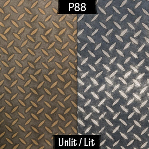 3 Panel Floor Lamp - P88 ~ Batik Tread Plate Grey, 20cm(d) x 1.4m(h)