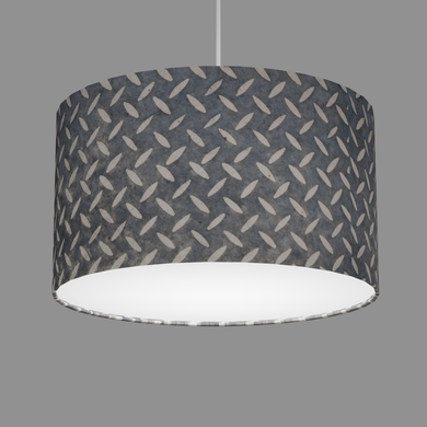 Drum Lamp Shade - P88 ~ Batik Tread Plate Grey, 35cm(d) x 20cm(h)