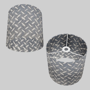 Drum Lamp Shade - P88 ~ Batik Tread Plate Grey, 25cm x 25cm