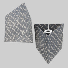 Triangle Lamp Shade - P88 ~ Batik Tread Plate Grey, 20cm(w) x 20cm(h)