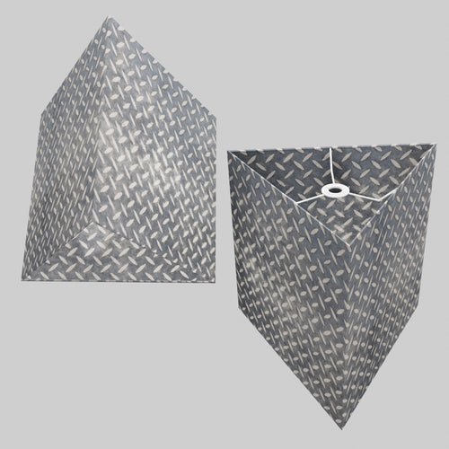 Triangle Lamp Shade - P88 ~ Batik Tread Plate Grey, 40cm(w) x 40cm(h)