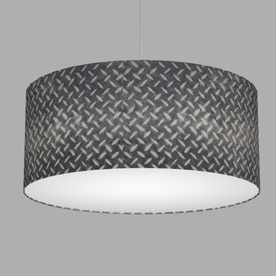 Drum Lamp Shade - P88 ~ Batik Tread Plate Grey, 70cm(d) x 30cm(h)