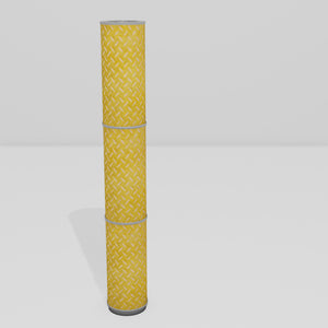 3 Panel Floor Lamp - P89 ~ Batik Tread Plate Yellow, 20cm(d) x 1.4m(h)