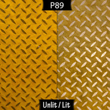 Square Lamp Shade - P89 ~ Batik Tread Plate Yellow, 40cm(w) x 40cm(h) x 40cm(d)