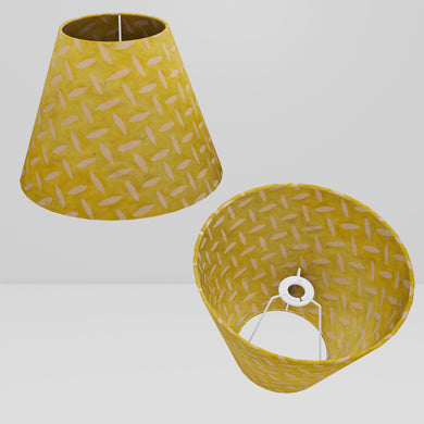 Conical Lamp Shade P89 ~ Batik Tread Plate Yellow, 15cm(top) x 30cm(bottom) x 22cm(height)
