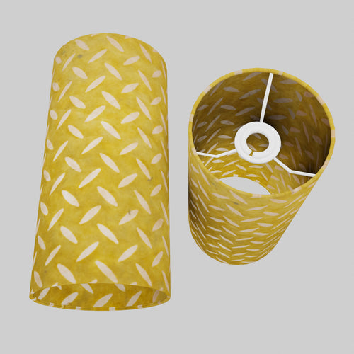 Drum Lamp Shade - P89 ~ Batik Tread Plate Yellow, 15cm(d) x 30cm(h)