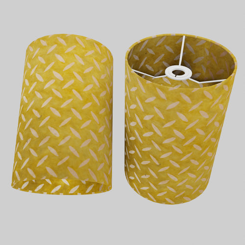 Drum Lamp Shade - P89 ~ Batik Tread Plate Yellow, 20cm(d) x 30cm(h)