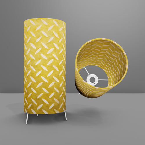 Free Standing Table Lamp Small - P89 ~ Batik Tread Plate Yellow