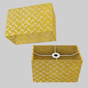 Rectangle Lamp Shade - P89 ~ Batik Tread Plate Yellow, 30cm(w) x 20cm(h) x 15cm(d)