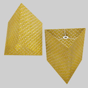 Triangle Lamp Shade - P89 ~ Batik Tread Plate Yellow, 40cm(w) x 40cm(h)