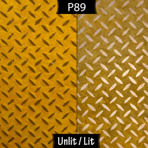 Conical Lamp Shade P89 ~ Batik Tread Plate Yellow, 23cm(top) x 40cm(bottom) x 31cm(height)
