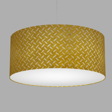 Drum Lamp Shade - P89 ~ Batik Tread Plate Yellow, 70cm(d) x 30cm(h)