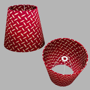 Conical Lamp Shade P90 ~ Batik Tread Plate Red, 23cm(top) x 35cm(bottom) x 31cm(height)