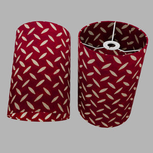 Drum Lamp Shade - P90 ~ Batik Tread Plate Red, 20cm(d) x 30cm(h)