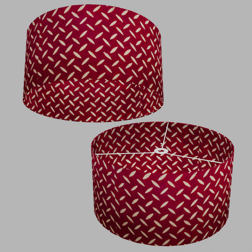 Drum Lamp Shade - P90 ~ Batik Tread Plate Red, 50cm(d) x 25cm(h)