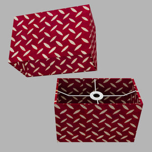 Rectangle Lamp Shade - P90 ~ Batik Tread Plate Red, 30cm(w) x 20cm(h) x 15cm(d)