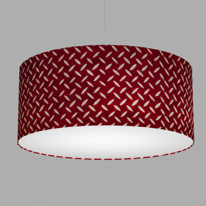 Drum Lamp Shade - P90 ~ Batik Tread Plate Red, 70cm(d) x 30cm(h)