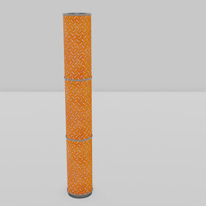 3 Panel Floor Lamp - P91 - Batik Tread Plate Orange, 20cm(d) x 1.4m(h)