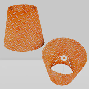 Conical Lamp Shade P91 - Batik Tread Plate Orange, 23cm(top) x 35cm(bottom) x 31cm(height)