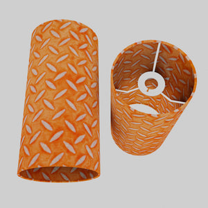 Drum Lamp Shade - P91 - Batik Tread Plate Orange, 15cm(d) x 30cm(h)