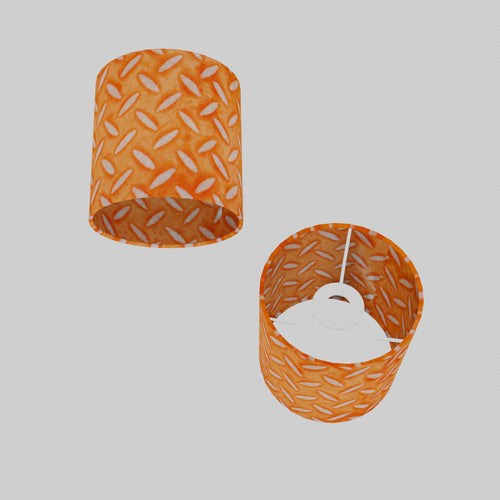 Drum Lamp Shade - P91 - Batik Tread Plate Orange, 15cm(d) x 15cm(h)