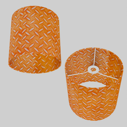Drum Lamp Shade - P91 - Batik Tread Plate Orange, 25cm x 25cm