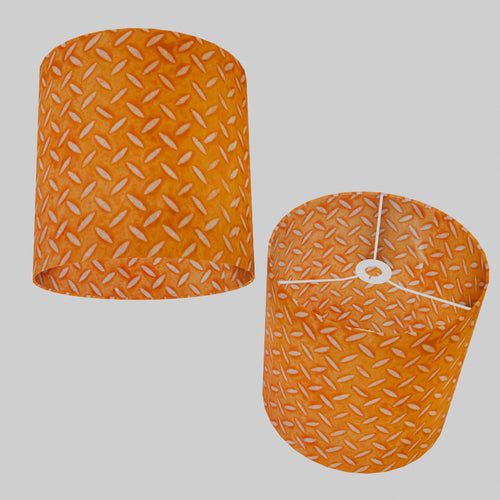 Drum Lamp Shade - P91 - Batik Tread Plate Orange, 30cm(d) x 30cm(h)