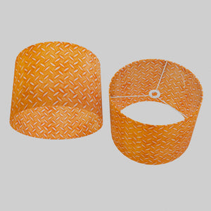 Drum Lamp Shade - P91 - Batik Tread Plate Orange, 40cm(d) x 30cm(h)