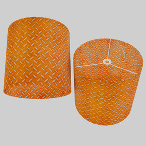 Drum Lamp Shade - P91 - Batik Tread Plate Orange, 40cm(d) x 40cm(h)