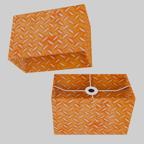 Rectangle Lamp Shade - P91 - Batik Tread Plate Orange, 30cm(w) x 20cm(h) x 15cm(d)