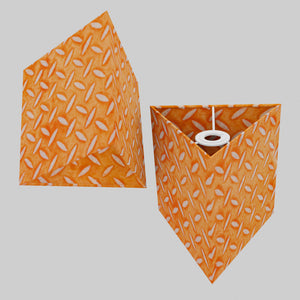 Triangle Lamp Shade - P91 - Batik Tread Plate Orange, 20cm(w) x 20cm(h)