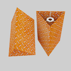 Triangle Lamp Shade - P91 - Batik Tread Plate Orange, 20cm(w) x 30cm(h)