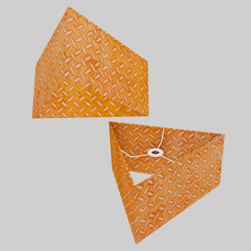 Triangle Lamp Shade - P91 - Batik Tread Plate Orange, 40cm(w) x 20cm(h)