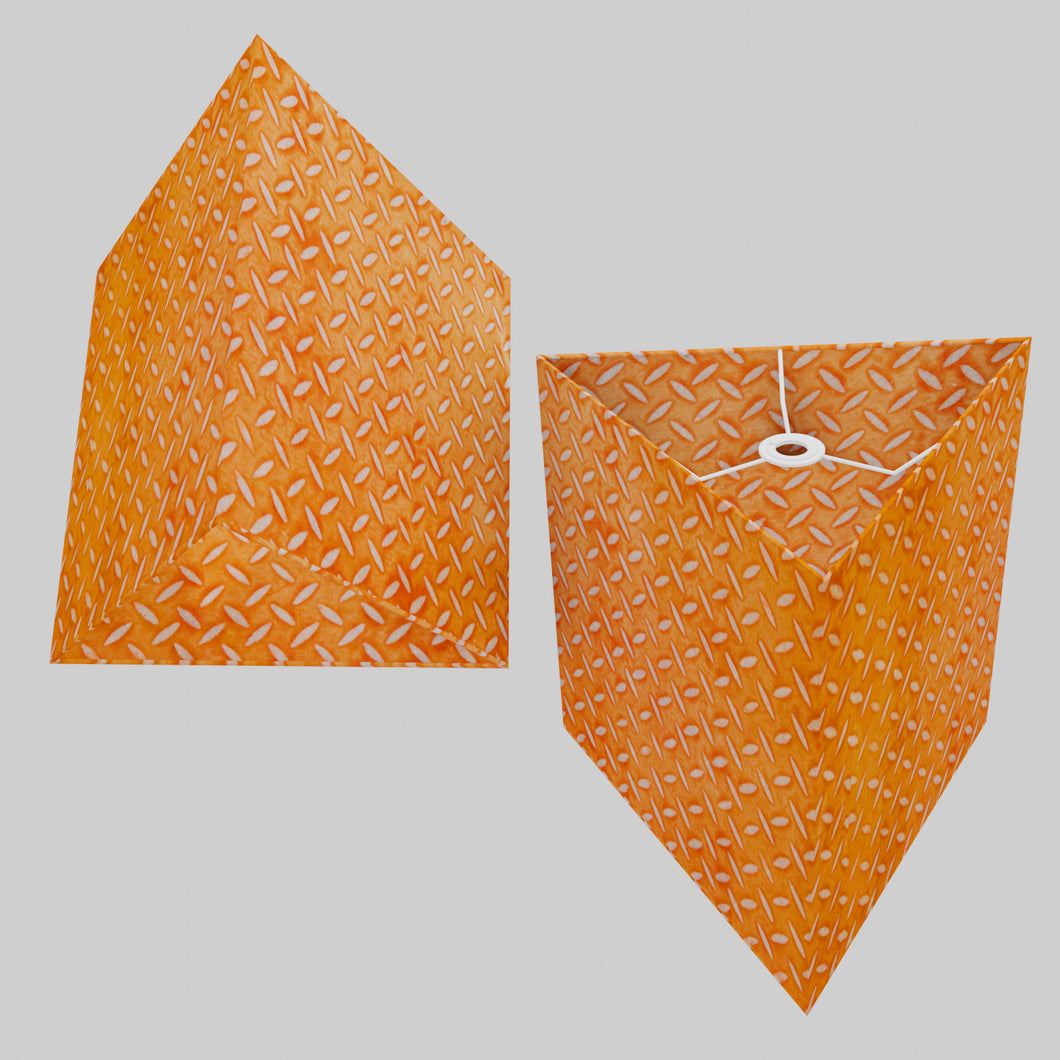 Triangle Lamp Shade - P91 - Batik Tread Plate Orange, 40cm(w) x 40cm(h)