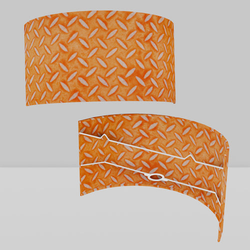Wall Light - P91 - Batik Tread Plate Orange, 36cm(wide) x 20cm(h)