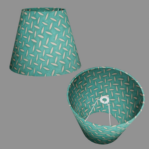 Conical Lamp Shade P15 - Batik Tread Plate Mint Green, 23cm(top) x 40cm(bottom) x 31cm(height)