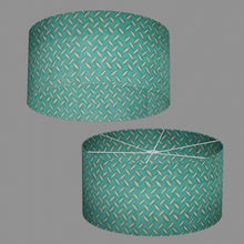 Drum Lamp Shade - P15 - Batik Tread Plate Mint Green, 60cm(d) x 30cm(h)