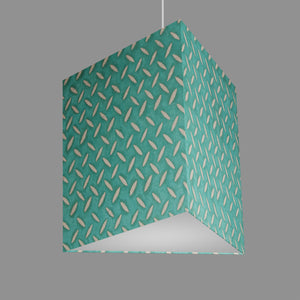 Triangle Lamp Shade - P15 - Batik Tread Plate Mint Green, 40cm(w) x 40cm(h)