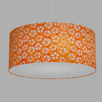 Drum Lamp Shade - P94 - Batik Star Flower on Orange, 70cm(d) x 30cm(h)