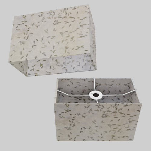 Rectangle Lamp Shade - P95 - Little Leaves, 30cm(w) x 20cm(h) x 15cm(d)