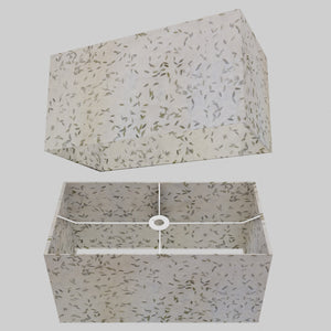 Rectangle Lamp Shade - P95 - Little Leaves, 50cm(w) x 25cm(h) x 25cm(d)