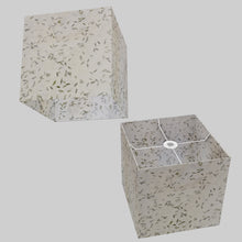 Square Lamp Shade - P95 - Little Leaves, 30cm(w) x 30cm(h) x 30cm(d)