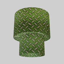 2 Tier Lamp Shade - P96 - Batik Tread Plate Green, 30cm x 20cm & 20cm x 15cm