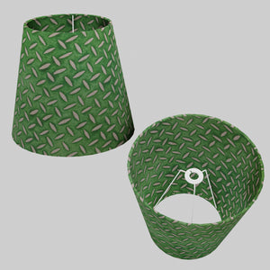 Conical Lamp Shade - P96 - Batik Tread Plate Green, 23cm(top) x 35cm(bottom) x 31cm(height)