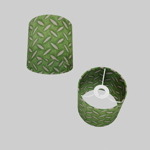 Drum Lamp Shade - P96 - Batik Tread Plate Green, 15cm(d) x 15cm(h)