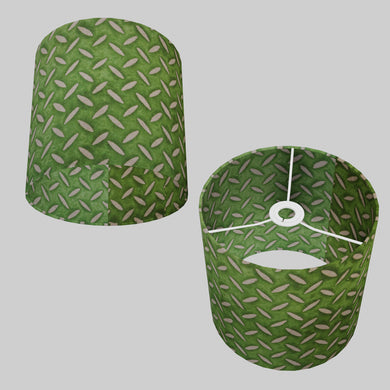 Drum Lamp Shade - P96 - Batik Tread Plate Green, 25cm x 25cm