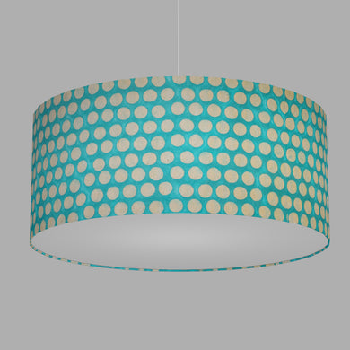Drum Lamp Shade - P97 - Batik Dots on Cyan, 70cm(d) x 30cm(h)