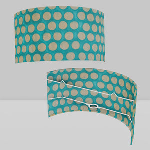 Wall Light - P97 - Batik Dots on Cyan, 36cm(wide) x 20cm(h)
